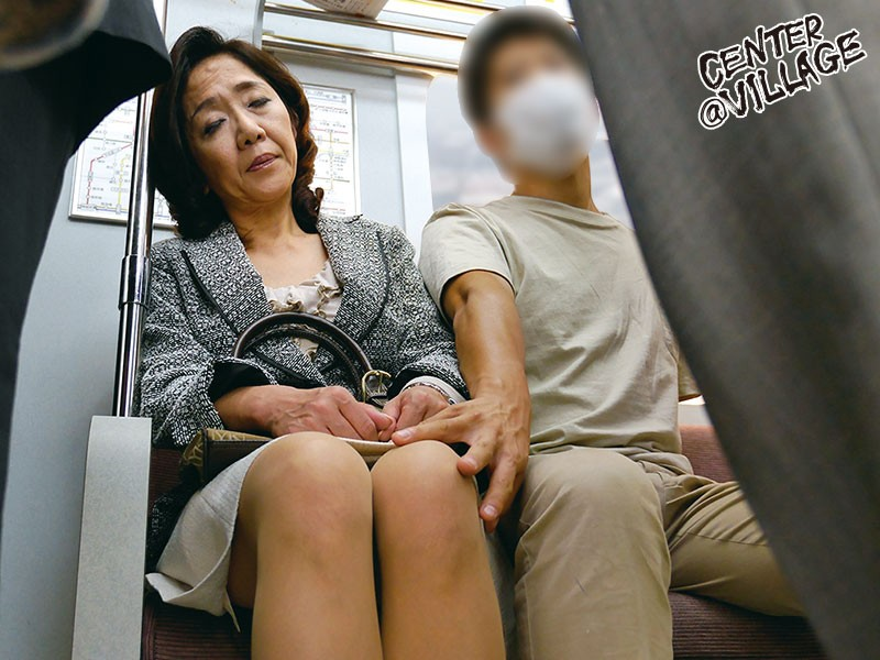 Mature lady on the bus