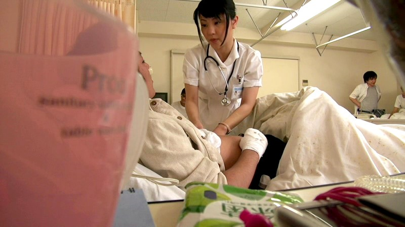 Asian nurse masturbating patient