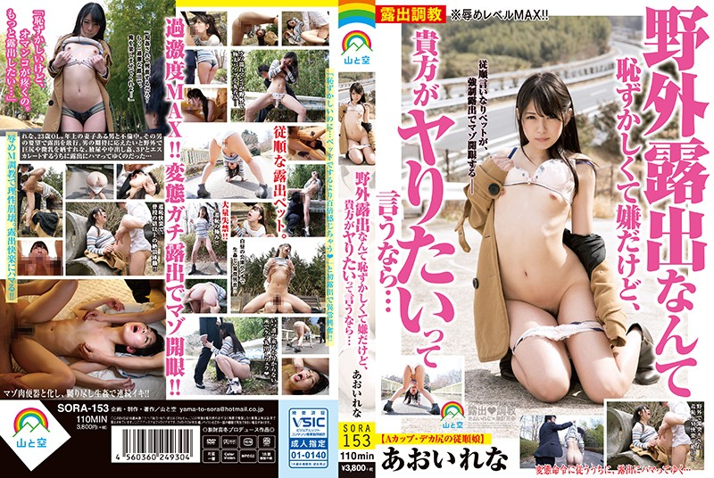SORA-153 Fucking Outdoors Is Totally Embarrassing, But If You Want To Do It, Well... Rena Aoi