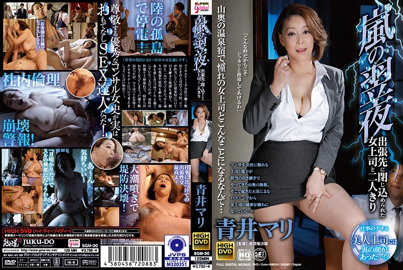 SGM-30 Stuck Overnight in a Room With My Female Boss on a Business Trip During a Storm Mari Aoi