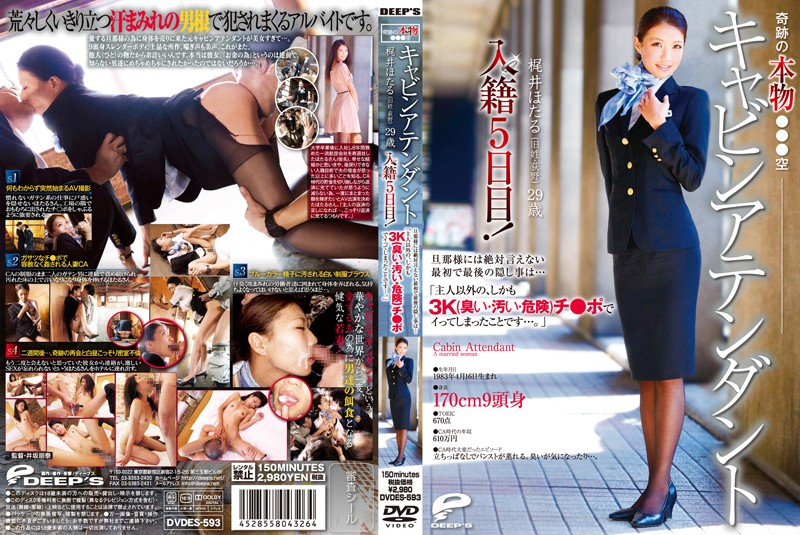DVDES-593 jav sex Hotaru Kaji The Miraculous Real Japan Airlines Cabin Attendant Hotaru Kaji (Maiden Name Ogino) 29 Years Old, 5