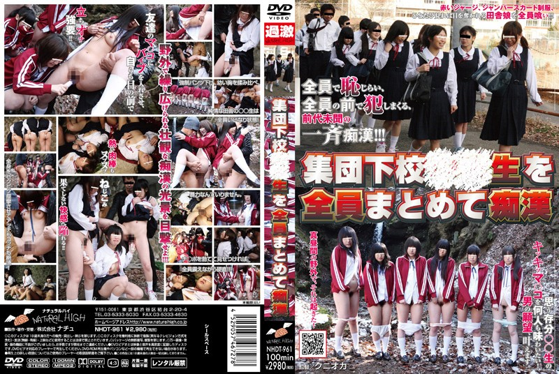 NHDT-961 Apartment Schoolgirls Molested All at Once - Variety, Uniform, Outdoor, Groping