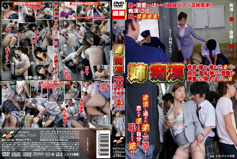 NHDTA-316 japanese porn tube My Older Sister Rides the Train With Me to Make Me Touch Her Instead of Molesting Strangers! Simply