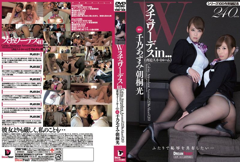 Two Sexy Stewardesses in... Coercion Suite Room: Cabin Attendant Azumi (22) & Akari (28)