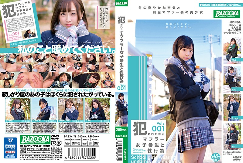 BAZX-178 full hd porn movies Sexual Acts With Sch**lgirls In Scarves Who Want To Get Raped vol. 001