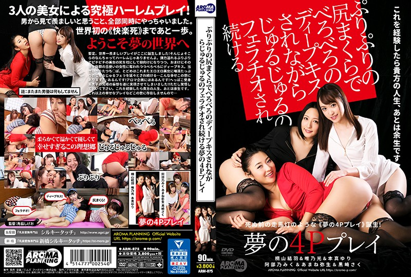 ARM-875 A Dream-Cum-True Foursome Where The Girls Shake Their Tight Little Asses And Give Me