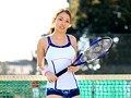 She's Played Intramural Tennis For Twelve Years! A Slender,5'6