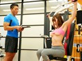 A Housewife With I Cup Colossal Tits Goes To The Gym For Tit Popping Temptation Yurina Momose preview-5