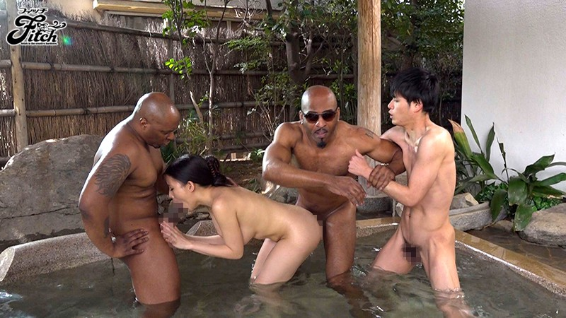 [JUFE-075] His Dick Was So Big, She Couldn't Stop Looking... Creampie Sex With A Big Black Dick At The Hot Springs Bath - While Her Boyfriend Was Nearby, This Gravure Idol With Colossal Tits Was Spasming In Orgasmic Ecstasy Maria - Maria Nagai