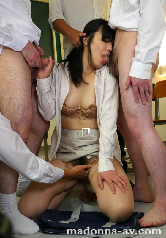 JUX-443 Studio MADONNA A Female Teacher Forced To Gang Bang Everyday By Her Students & Their Parents Kasumi Okazaki big image 6