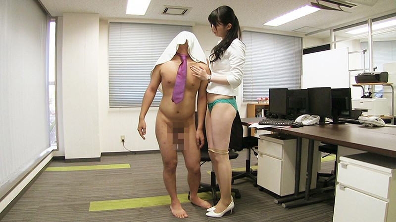 [KTB-024] Bukkake! Women In Business Suits 14 - A Tall Girl Commits Reverse Sexual Harassment At The Office In Her Tight Suit And Striped Skirt - Shoko Otani