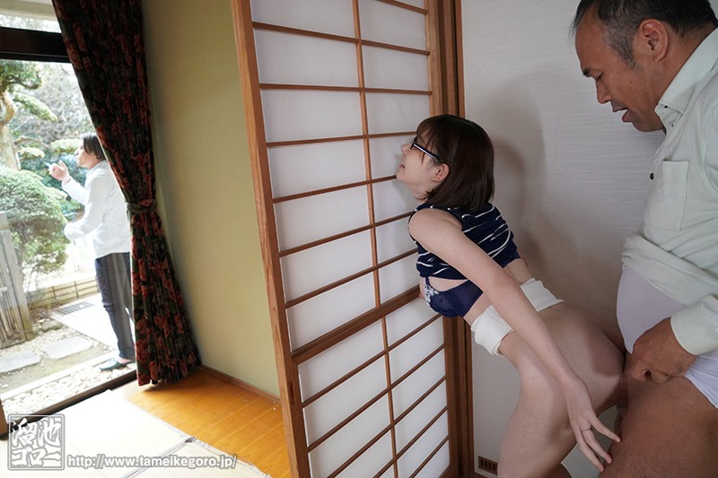 MEYD-479 While Her Husband Smokes For 5 Minutes, She Gets Short Time Creampie Fucked By Her Father-In-Law