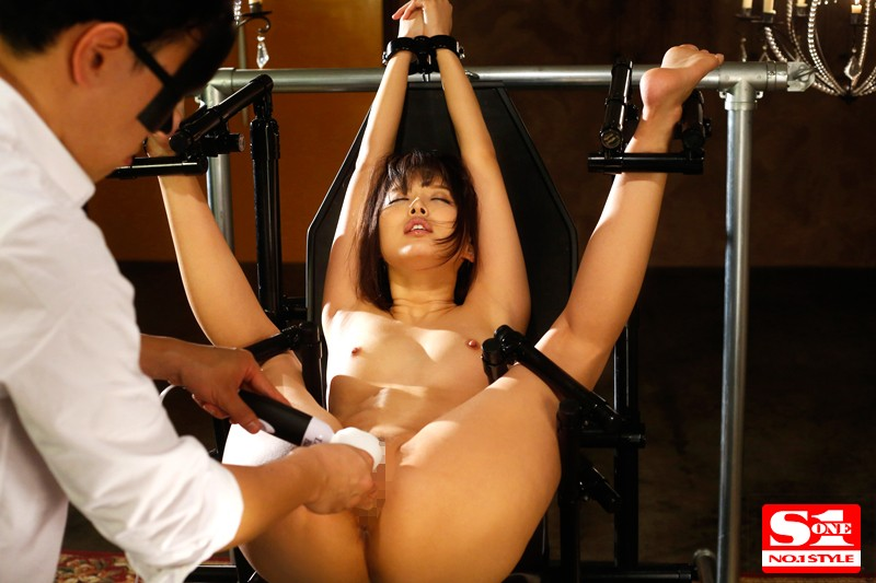 SNIS-714 Tsukasa Aoi Is Strapped Down So She Can't Move A Muscle - Hard Dick Drilling Rocks Her Hips So Hard They Could Break