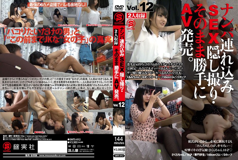 SNTS-012 Take Her to a Hotel, Film the SEX on Hidden Camera, and Sell it as Porn. vol. 12