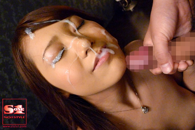 Blowjob cum on face