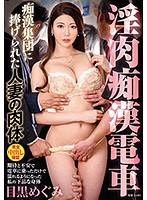 [VEC-408] Slutty Groping Train, Body Of Wife Offered Up To Group Of Gropers, Megumi Meguro